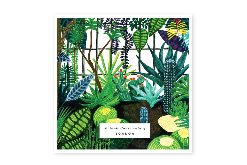 BOTANIC greeting card, london