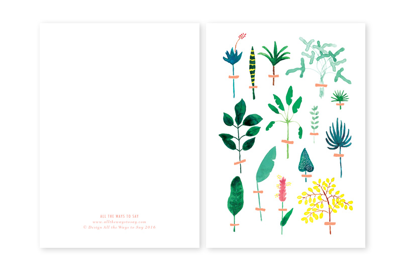 Herbier illustrated greeting card