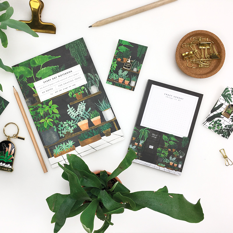plant-collection-pins-keychain-notepad-notebook